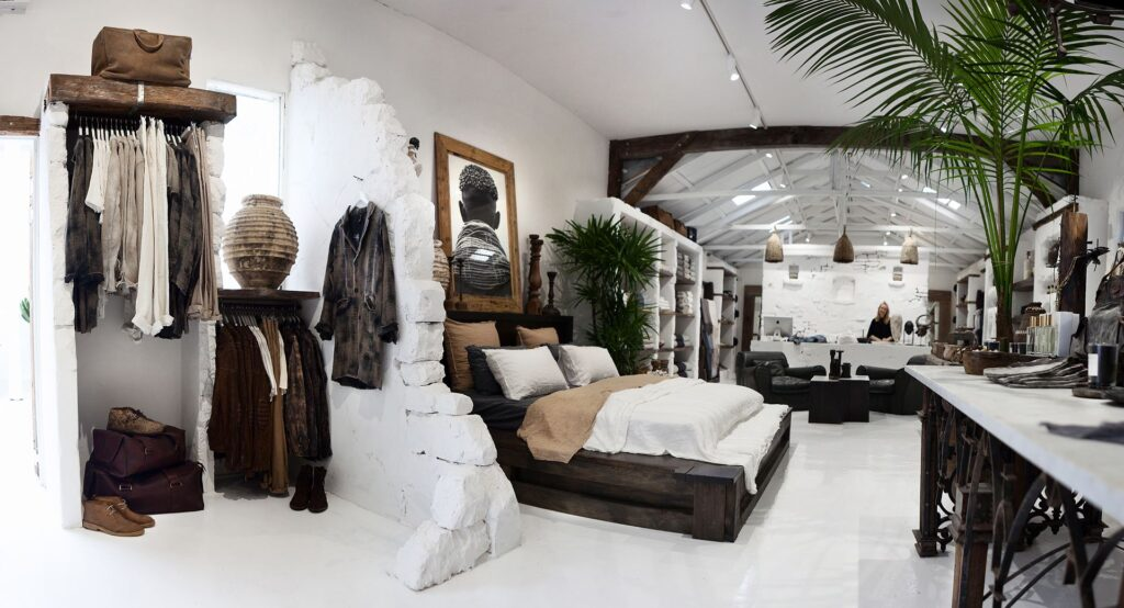 A photo of the interior of Island Luxe, a boutique concept store in Bangalow