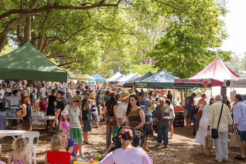 A photo of the Bangalow Markets